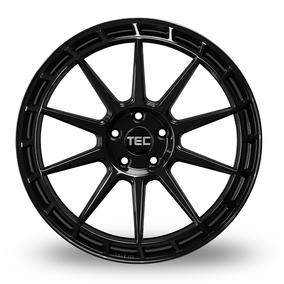 19 Inch TEC Speedwheels GT8 Gloss Black Alloy Wheels