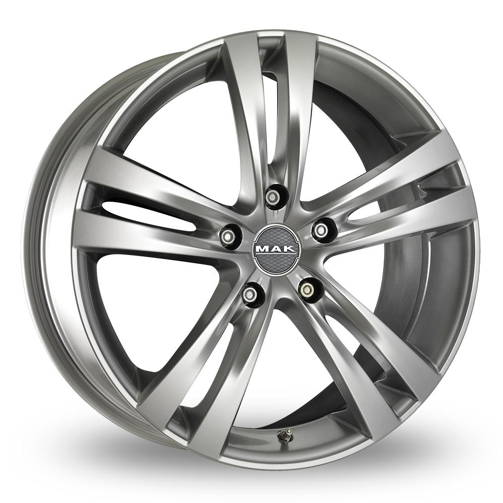 "19"" MAK Zenith Hyper Silver Alloy Wheels"