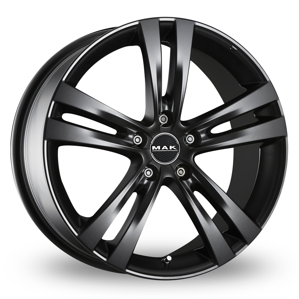17 Inch MAK Zenith Matt Black Alloy Wheels