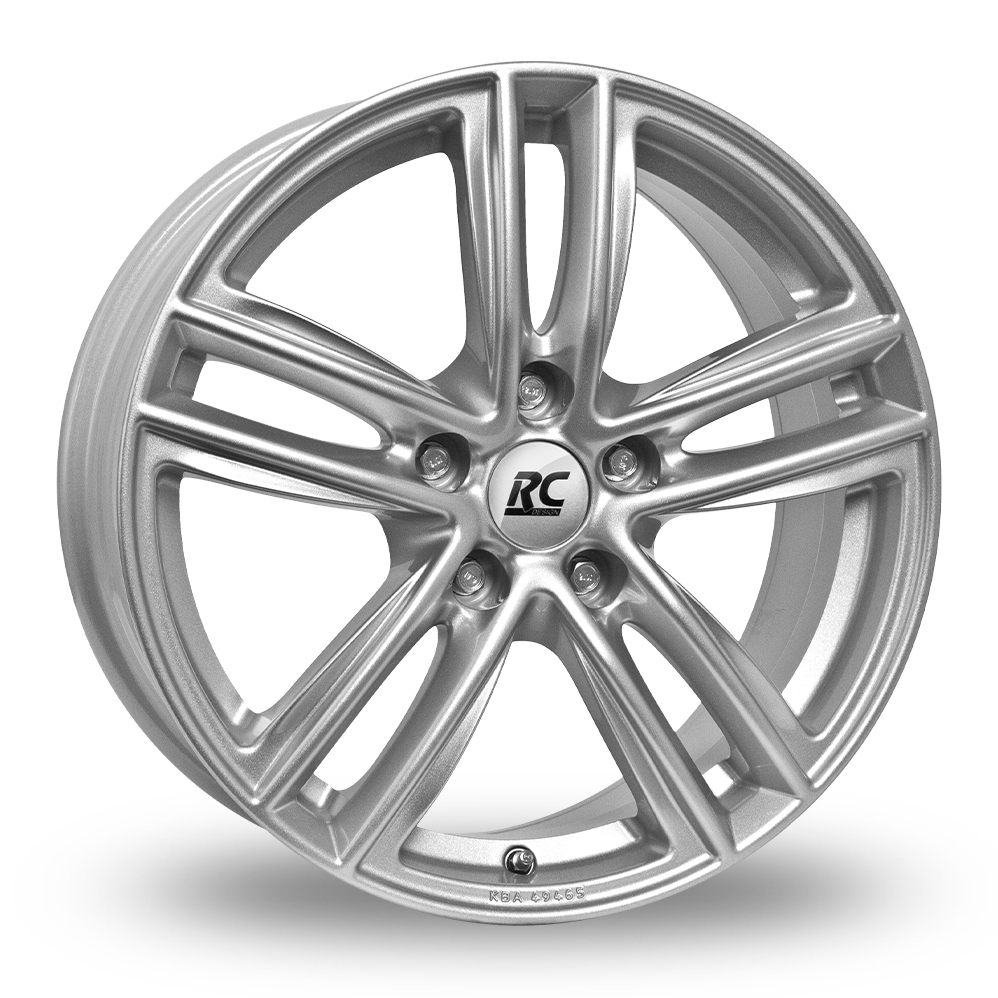 18 Inch RC Design RC27 Silver Alloy Wheels