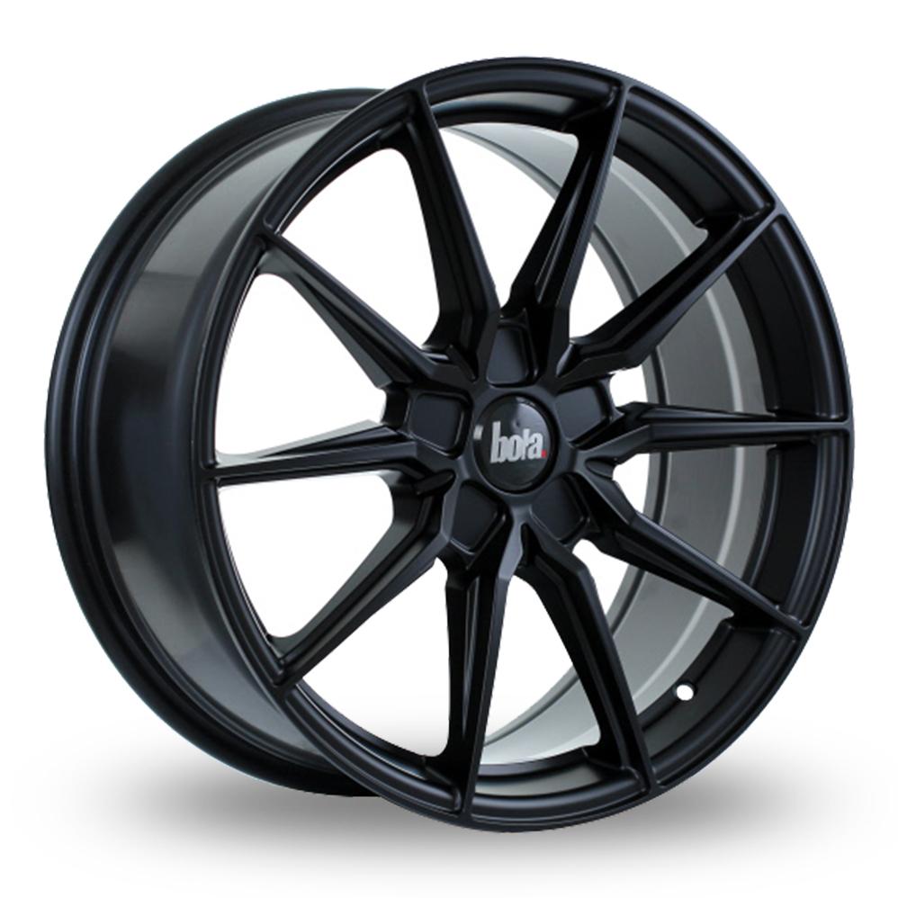 19 Inch Bola B16 Matt Black Alloy Wheels