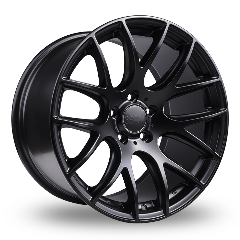 "19"" 3SDM 0.01 Satin Black Alloy Wheels"