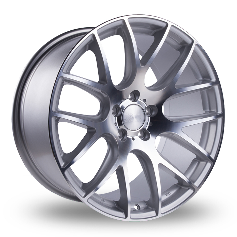 8.5x20 (Front) & 10x20 (Rear) 3SDM 0.01 Silver Polished Alloy Wheels