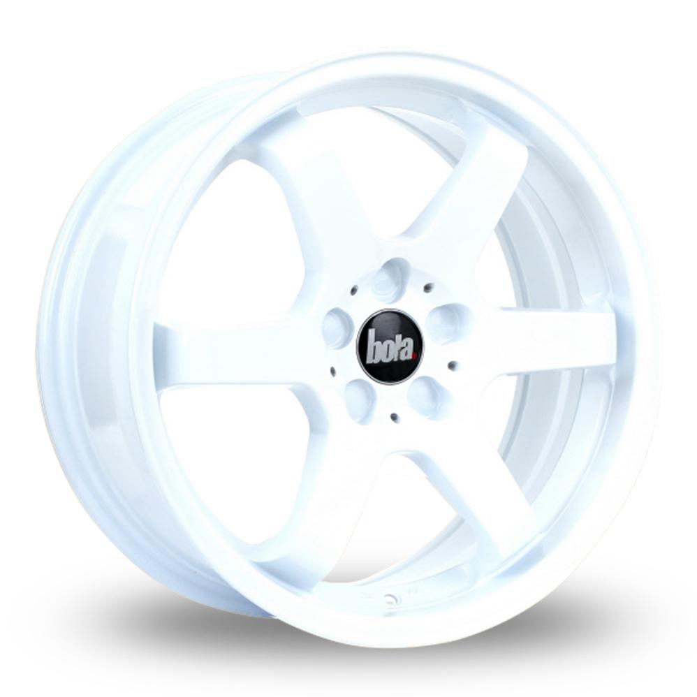 "17"" Bola B1 White Alloy Wheels"