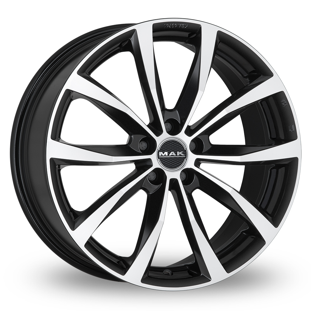 "19"" MAK Wolf Black Mirror Alloy Wheels"