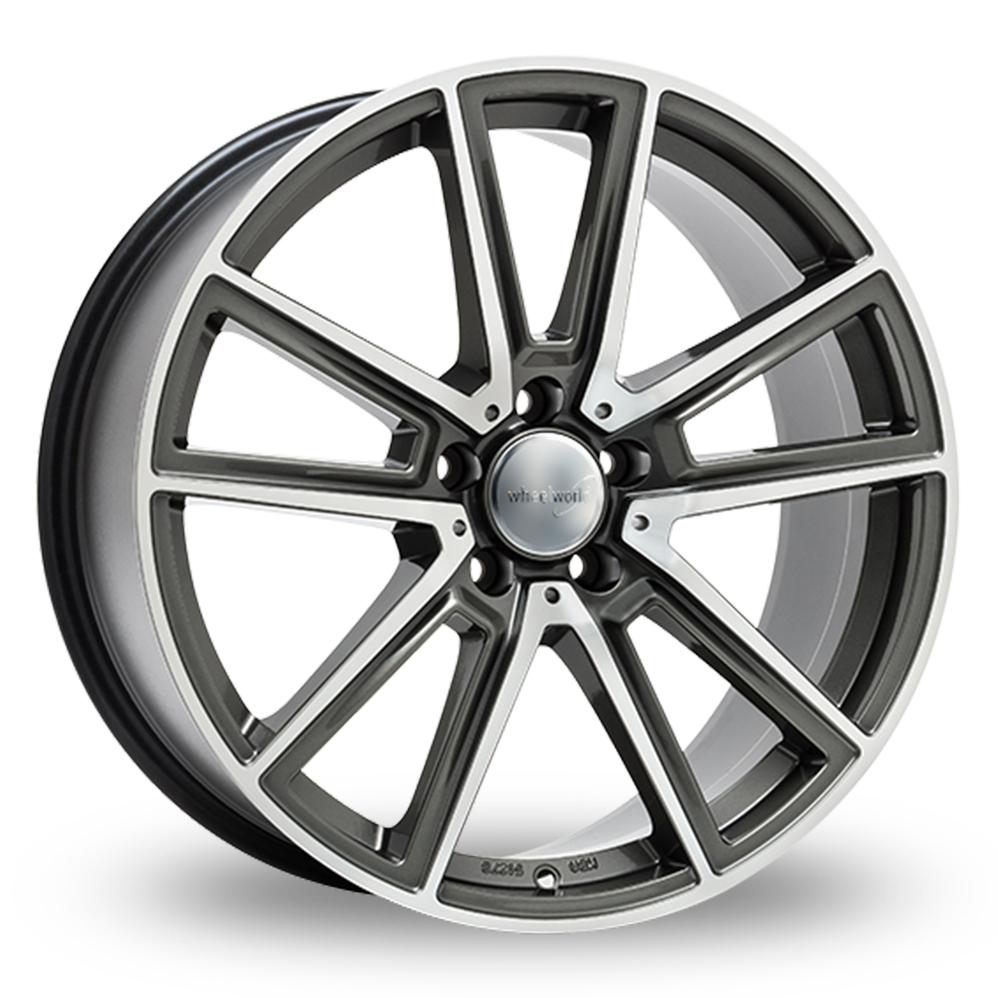 """17"""" Wheelworld WH30 Daytona Grey Polished Alloy Wheels"""