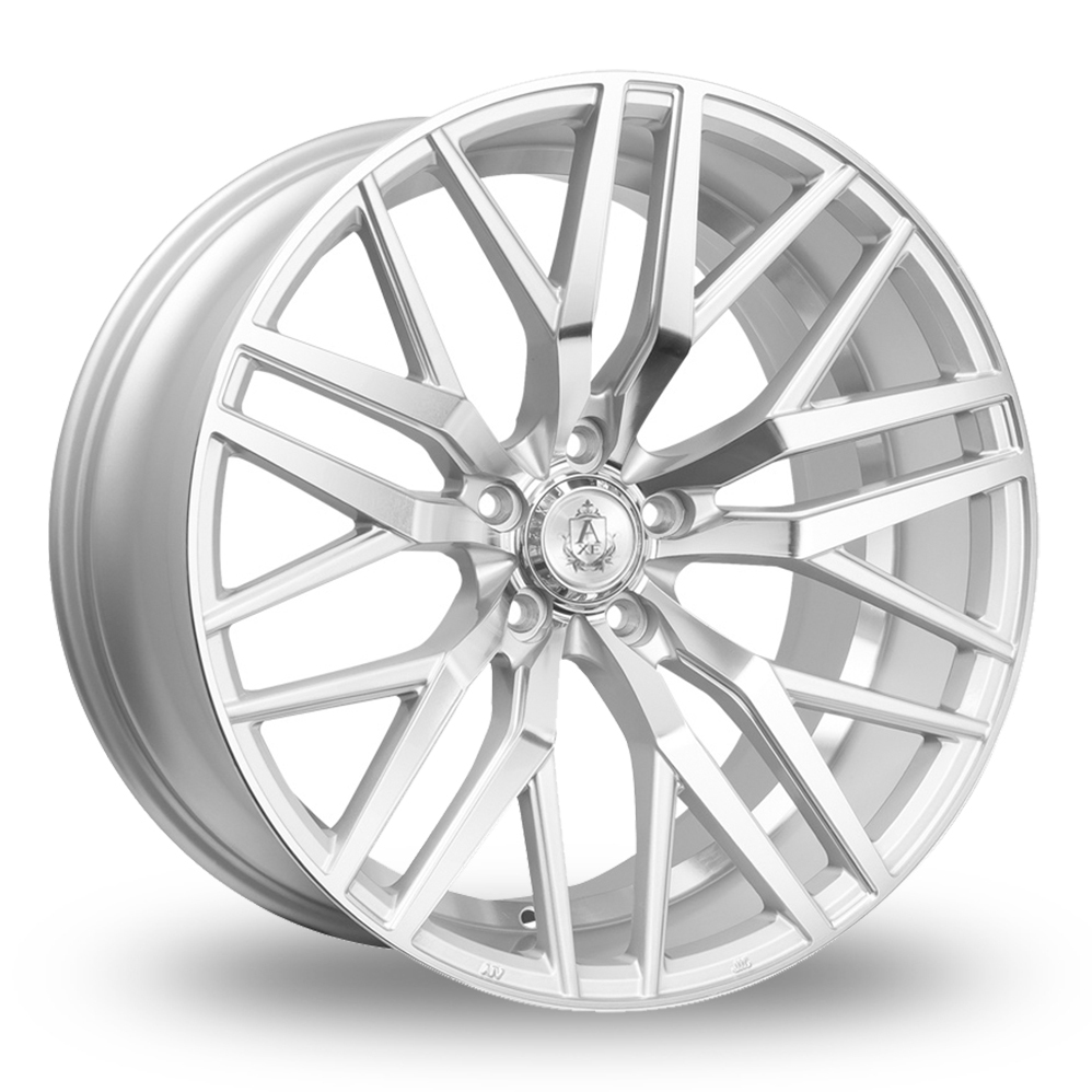 8.5x20 (Front) & 10x20 (Rear) Axe EX30 Silver Polished Alloy Wheels