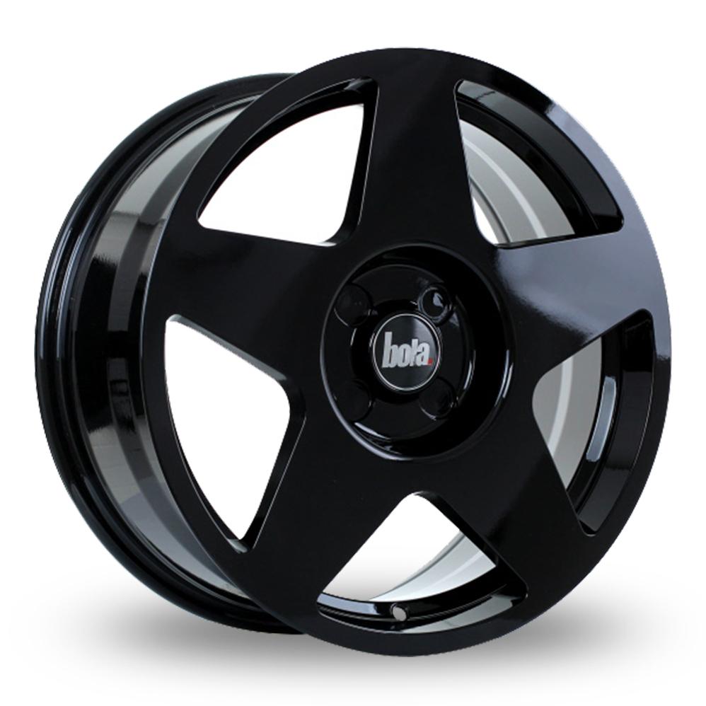 "18"" Bola B10 Gloss Black Alloy Wheels"