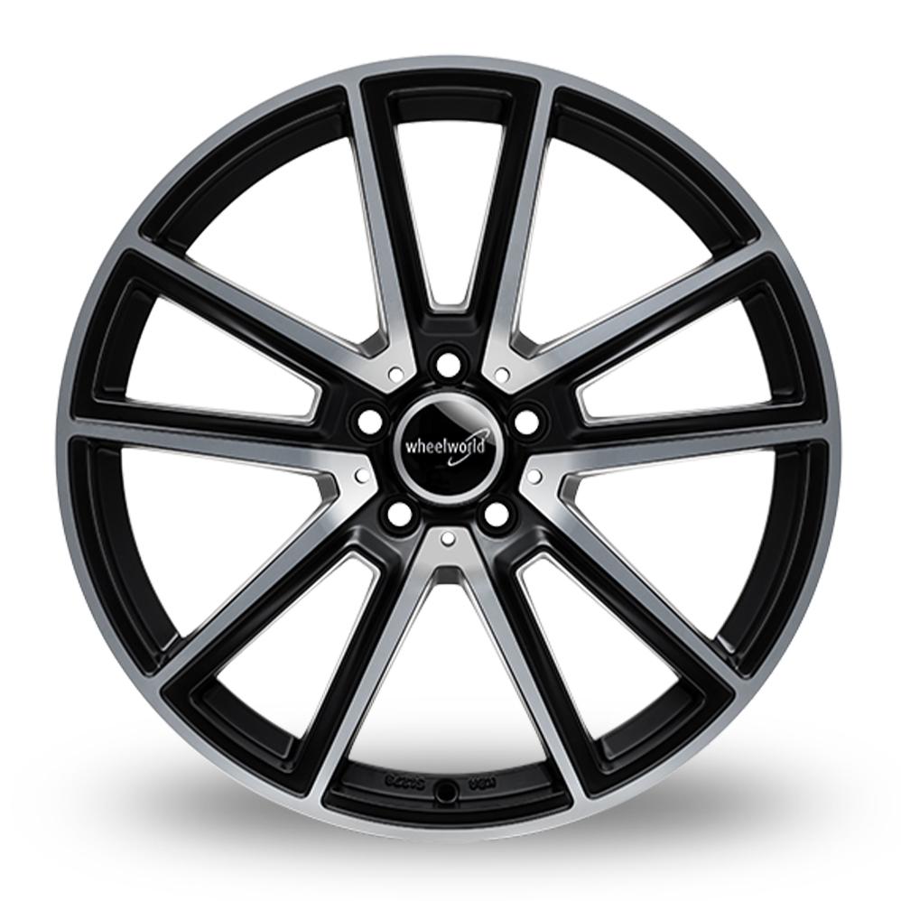 17 Inch Wheelworld WH30 Matt Black Polished Alloy Wheels
