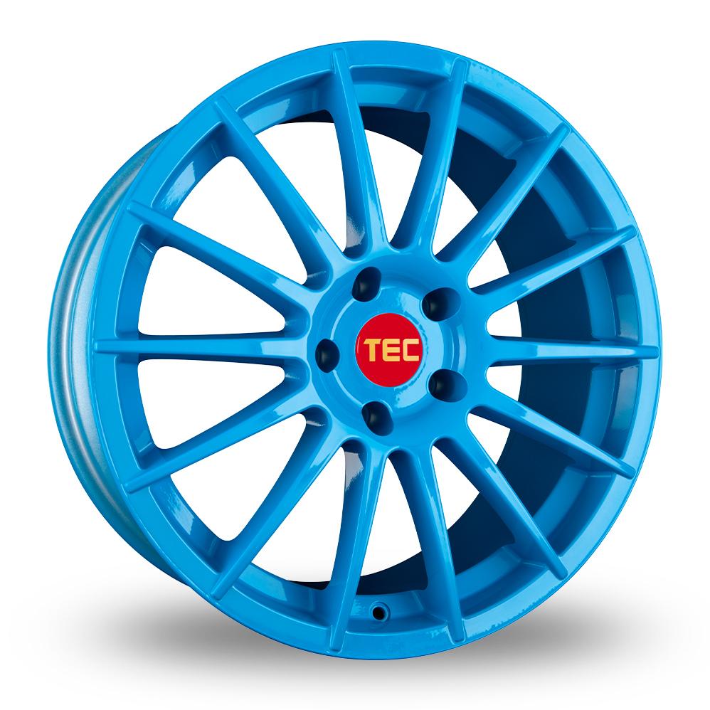 "18"" TEC Speedwheels AS2 Light Blue Alloy Wheels"