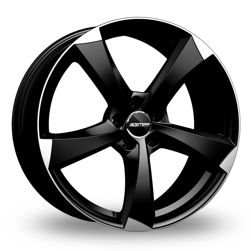 17 Inch GMP Italia Ican Black Polished Alloy Wheels