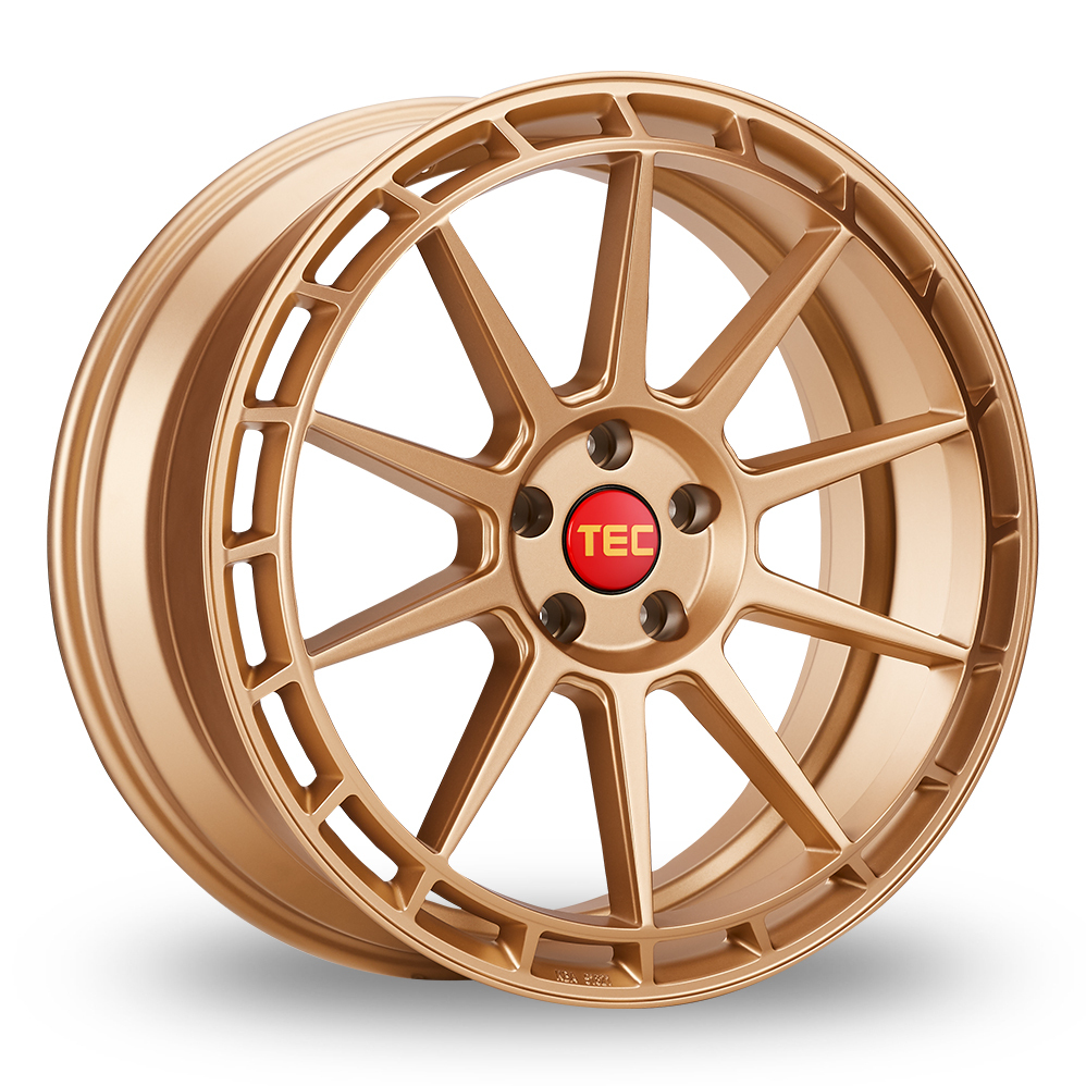 """20"""" TEC Speedwheels GT8 Rose Gold Wider Rear Alloy Wheels"""