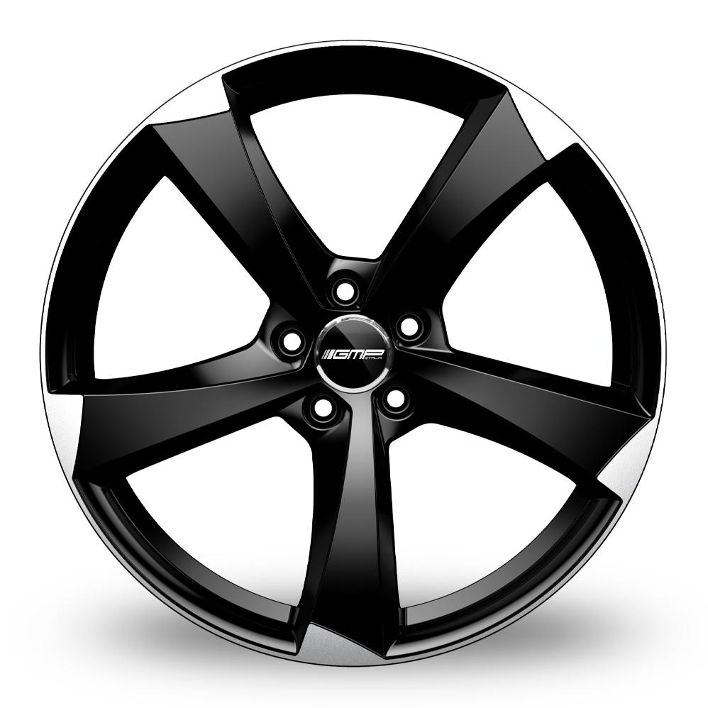 19 Inch GMP Italia Ican Black Polished Alloy Wheels
