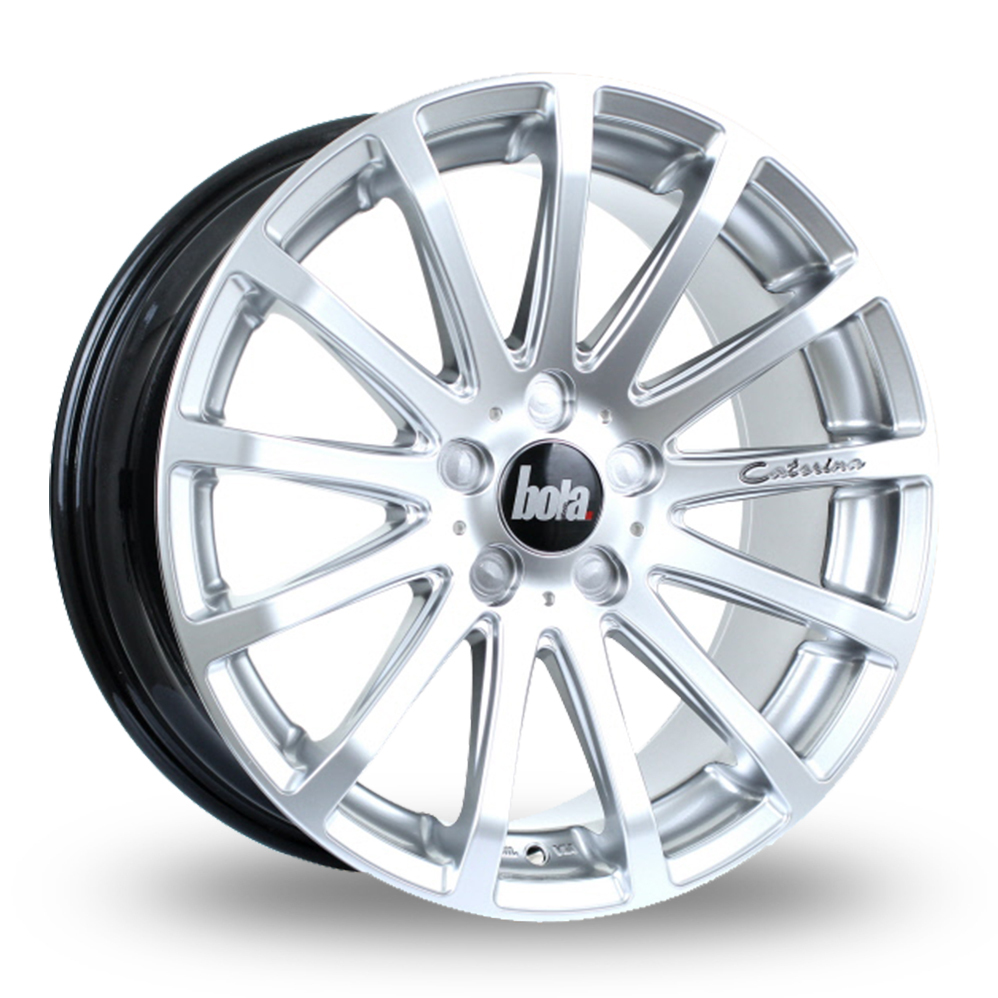 18 Inch Bola XTR Hyper Silver Alloy Wheels