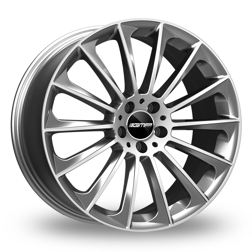 "18"" GMP Italia Stellar Anthracite/Polished Wider Rear Alloy Wheels"
