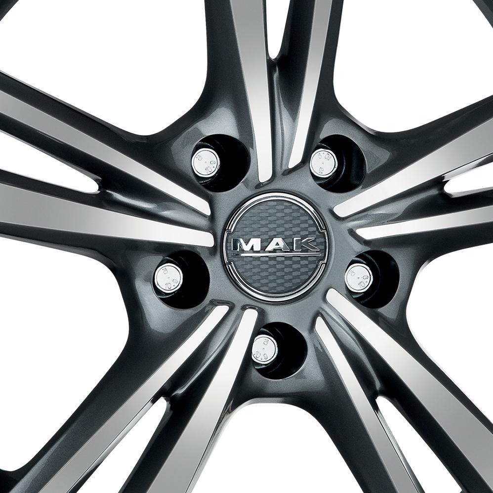 18 Inch MAK Emblema Gun Metal Mirror Face Alloy Wheels
