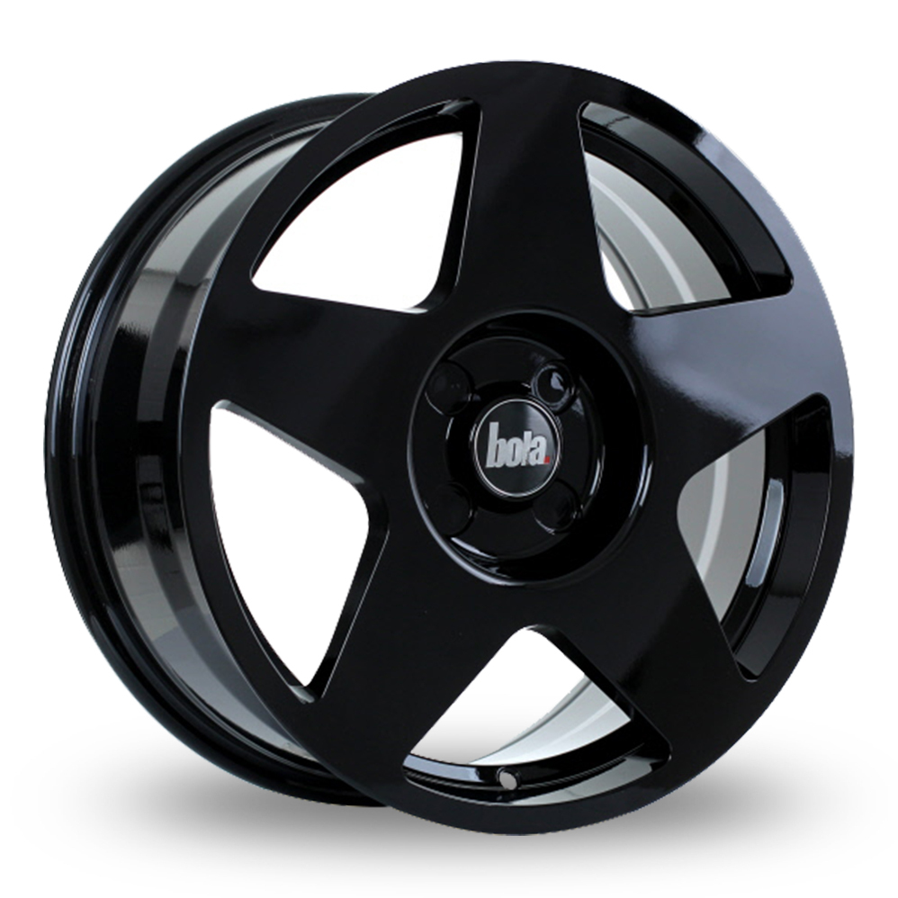 "17"" Bola B10 Gloss Black Alloy Wheels"