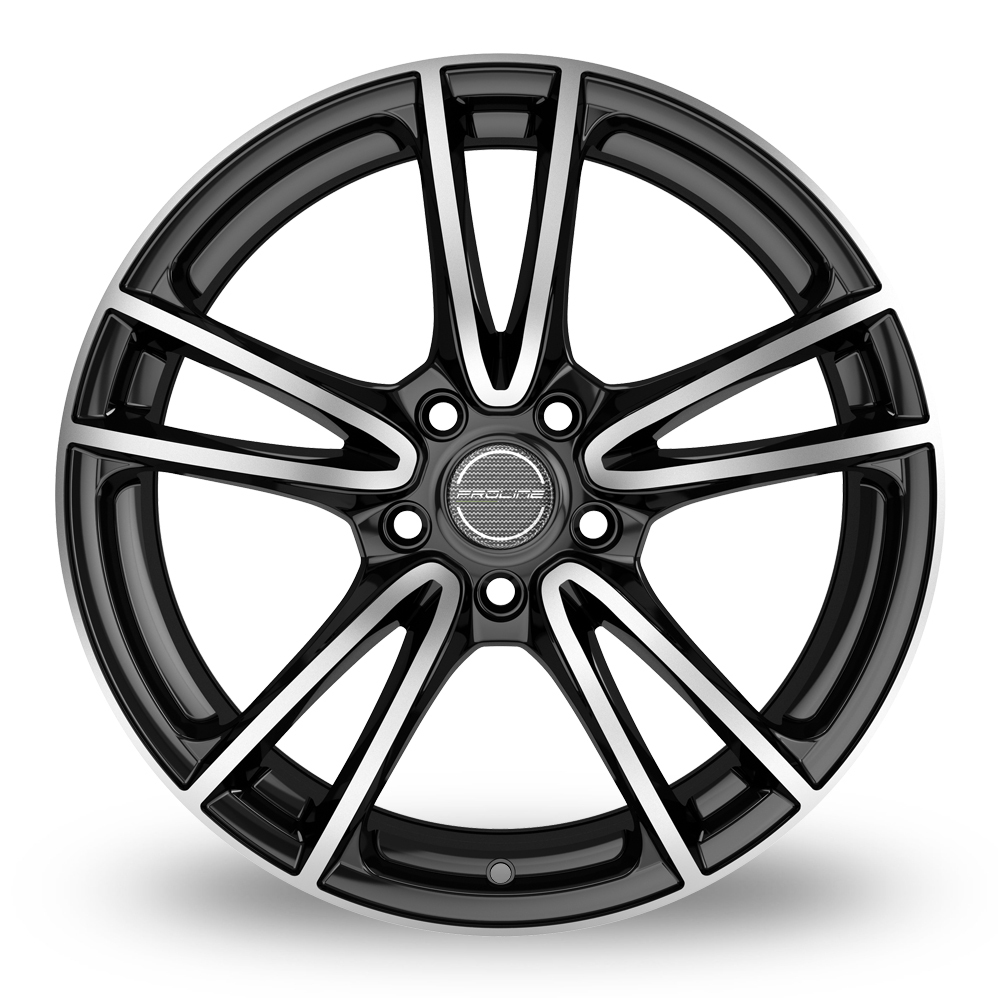 17 Inch Proline CX300 Black Polished Alloy Wheels