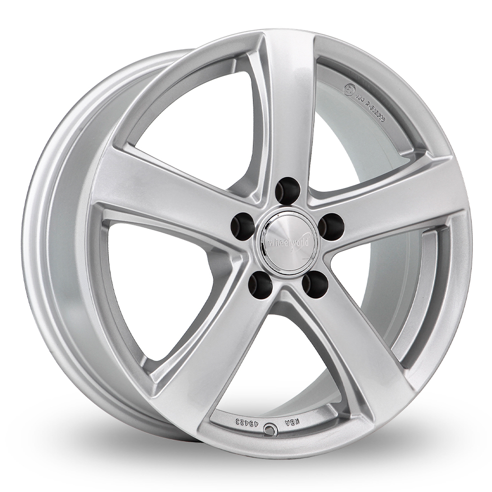 "17"" Wheelworld WH24 Silver Alloy Wheels"