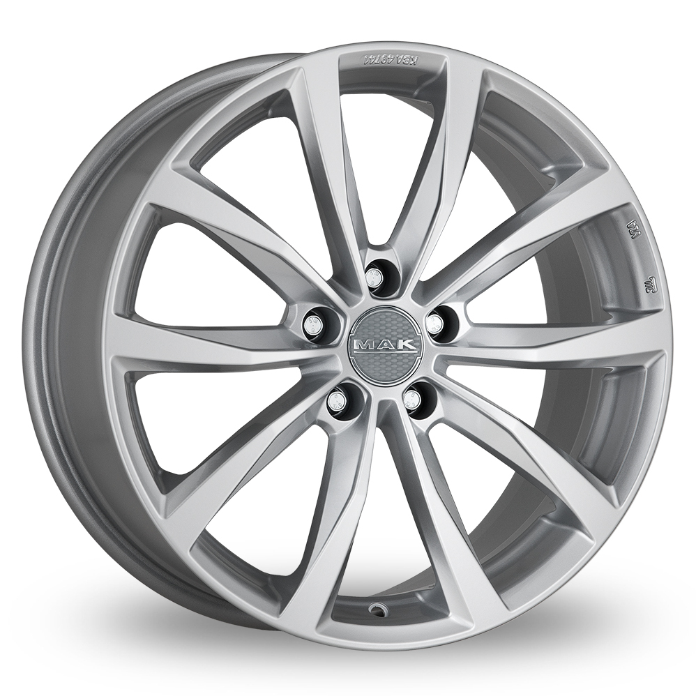 "20"" MAK Wolf Silver Alloy Wheels"