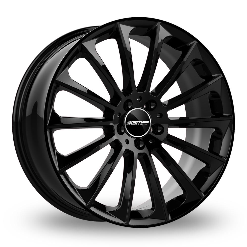 "22"" GMP Italia Stellar Gloss Black Wider Rear Alloy Wheels"