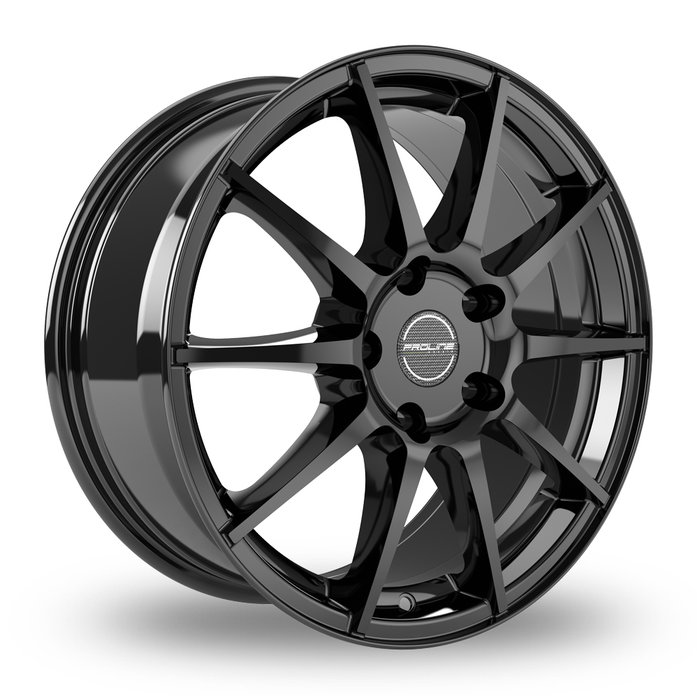 "17"" Proline UX100 Black Glossy Alloy Wheels"