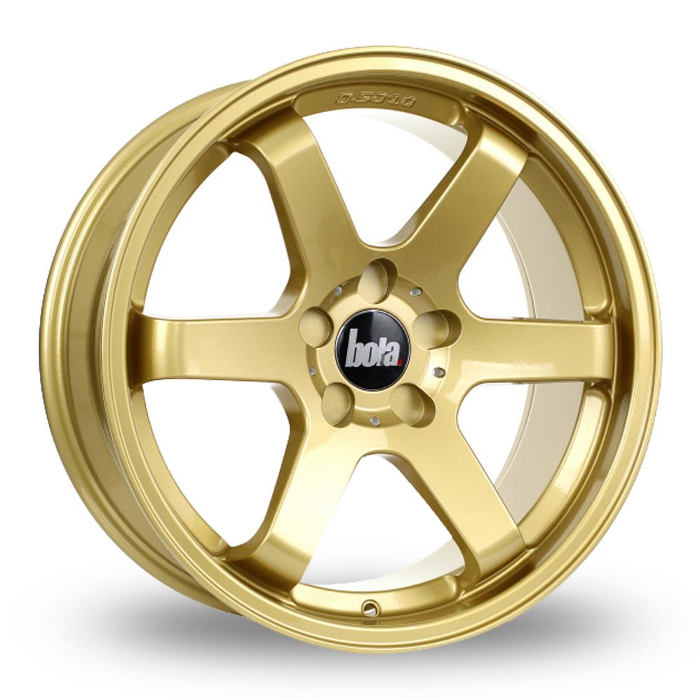"""18"""" Bola B1 Gold Wider Rear Alloy Wheels"""