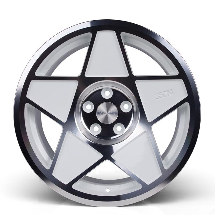 19 Inch 3SDM 0.05 White Polished Alloy Wheels