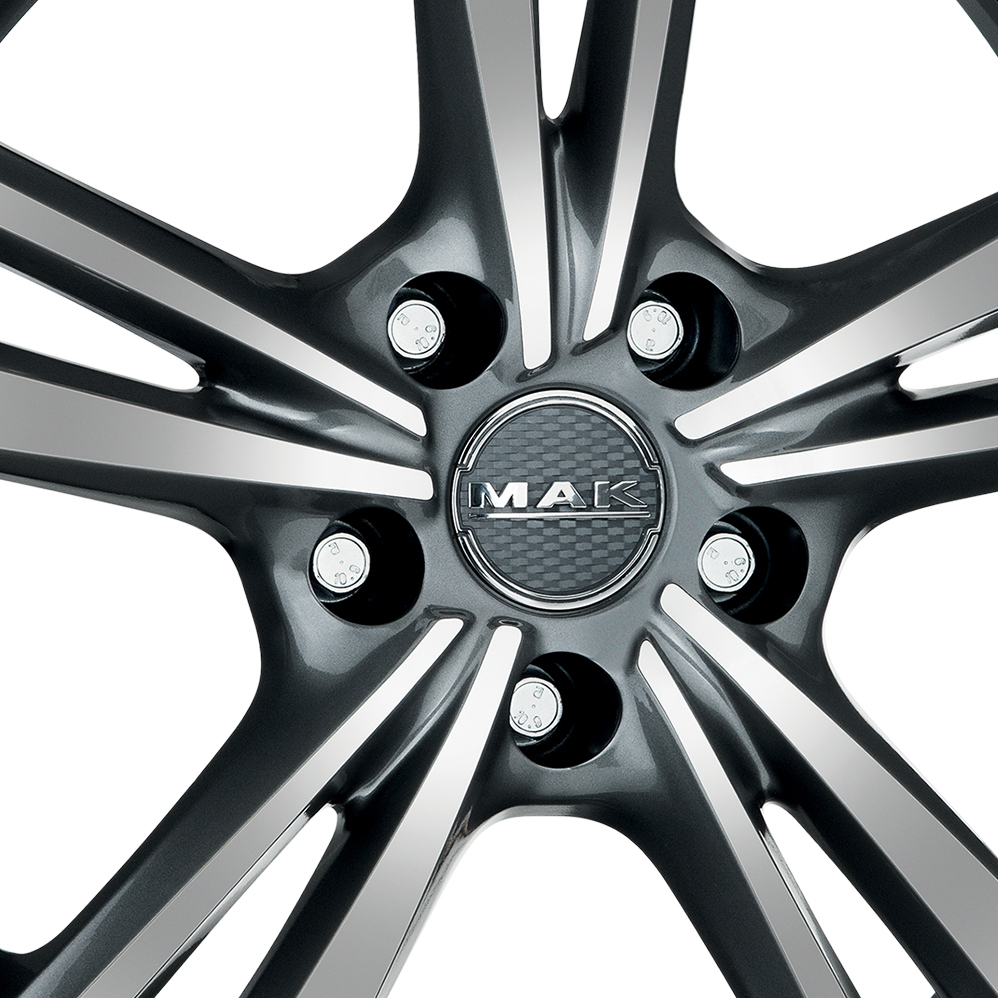 15 Inch MAK Emblema Gun Metal Mirror Face Alloy Wheels
