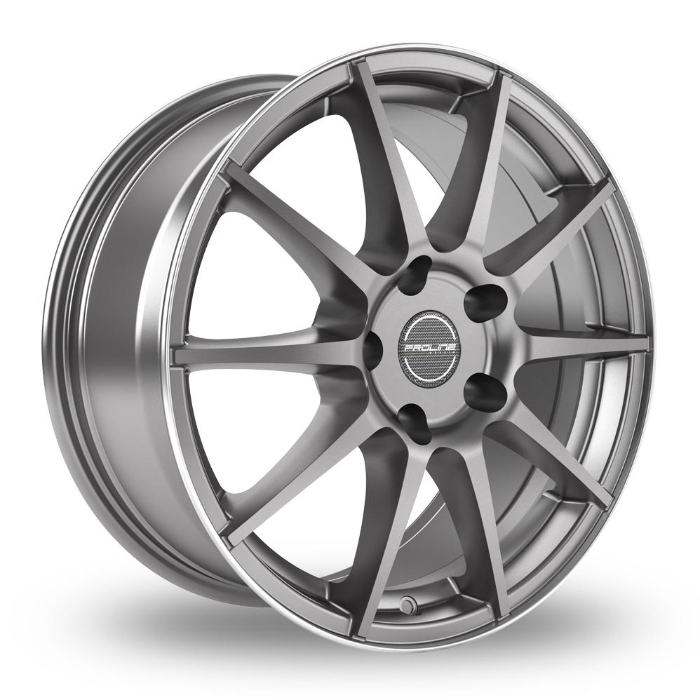 "17"" Proline UX100 Grey Rim Polished Alloy Wheels"