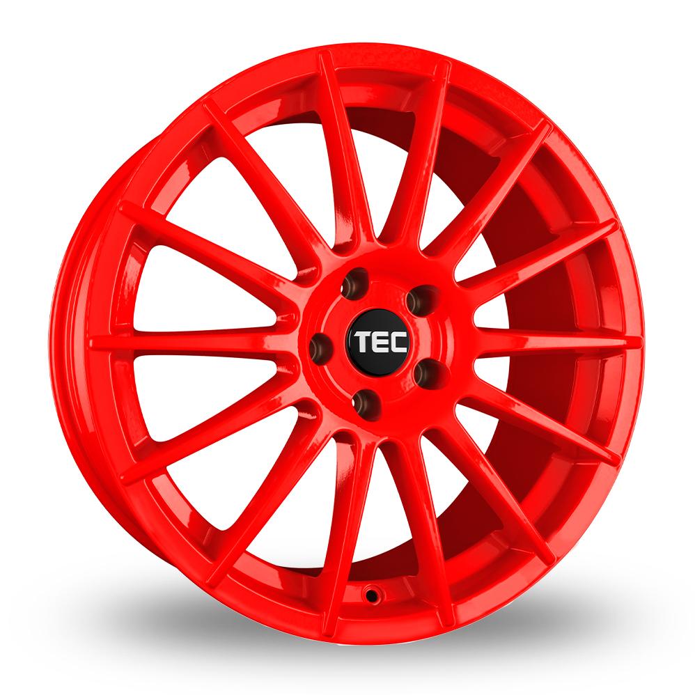 "17"" TEC Speedwheels AS2 Red Alloy Wheels"