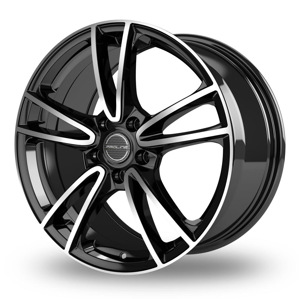 15 Inch Proline CX300 Black Polished Alloy Wheels