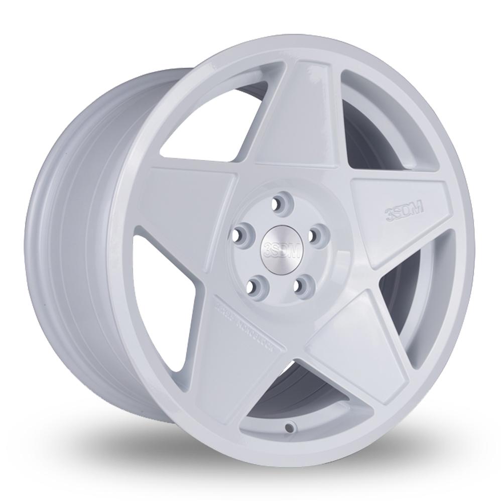 "18"" 3SDM 0.05 White Wider Rear Alloy Wheels"