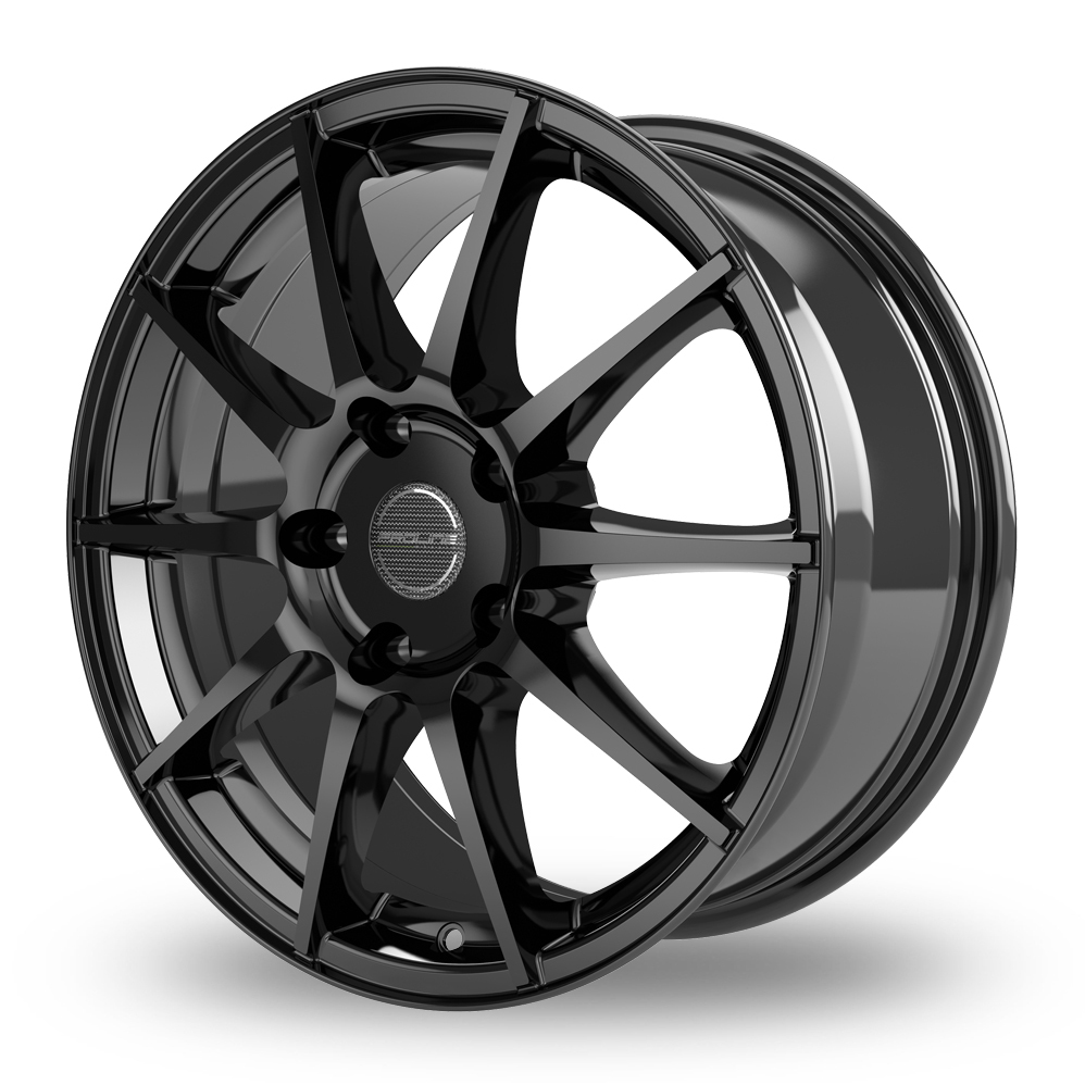 16 Inch Proline UX100 Black Glossy Alloy Wheels