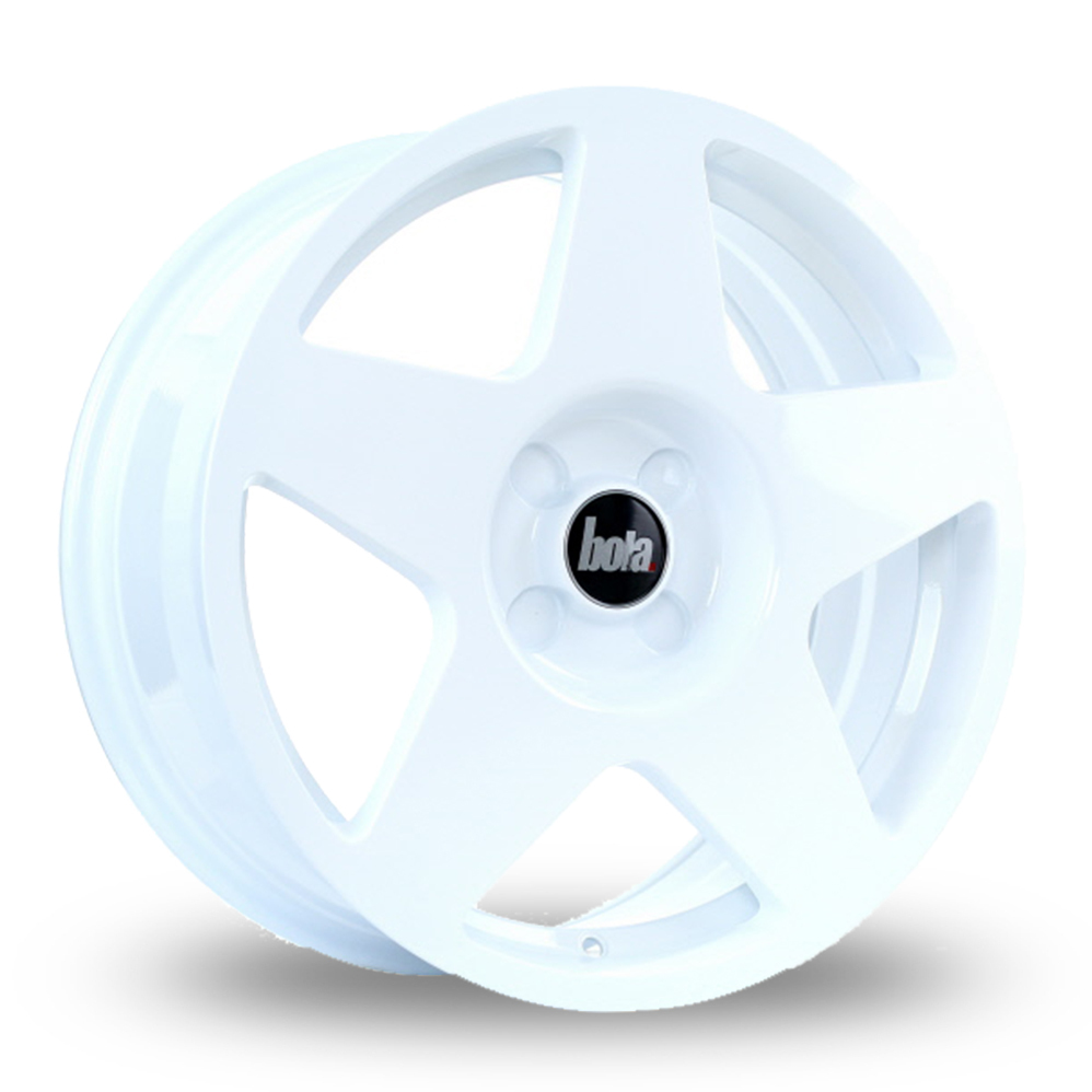 "17"" Bola B10 White Alloy Wheels"