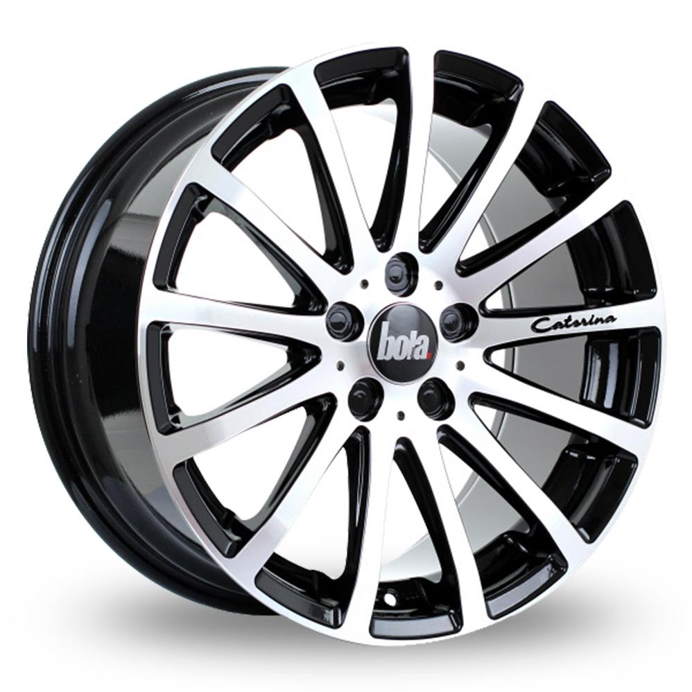 20 Inch Bola XTR Black Polished Alloy Wheels