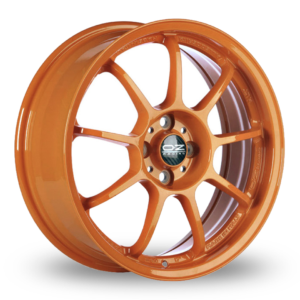 18 Inch OZ Racing Alleggerita HLT Orange Alloy Wheels