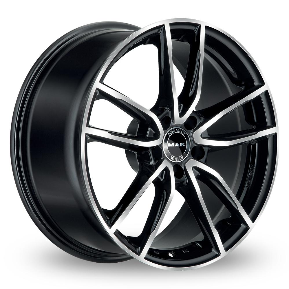 20 Inch MAK Evo Black Mirror Alloy Wheels