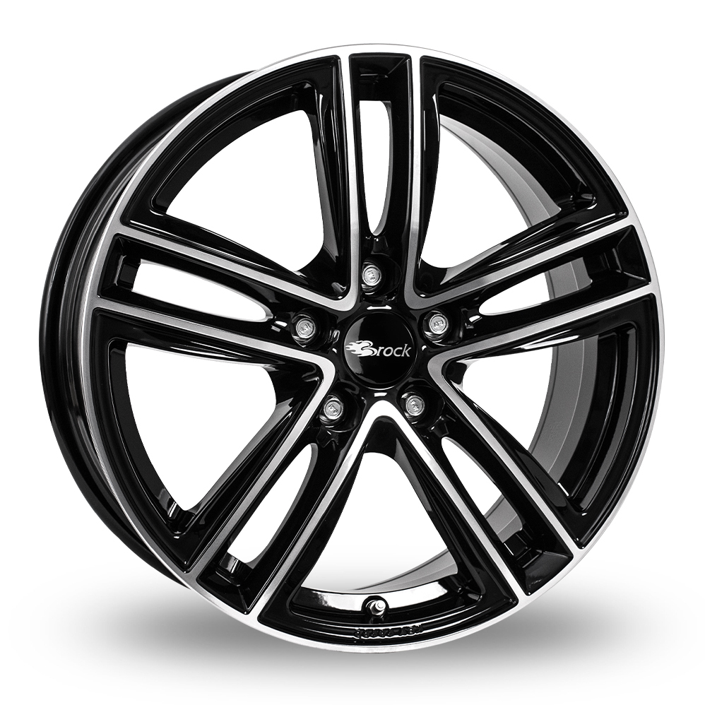 "16"" RC Design RC27 Gloss Black Polished Alloy Wheels"