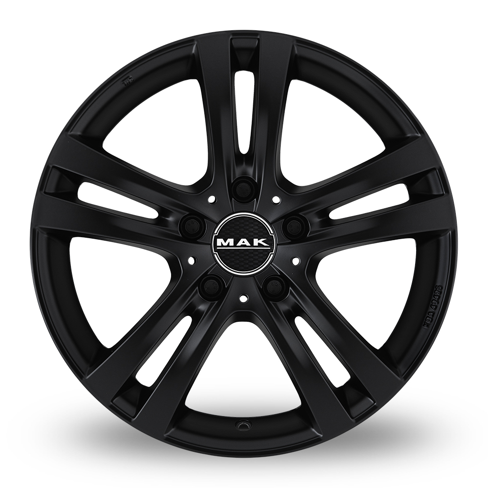 16 Inch MAK Zenith Matt Black Alloy Wheels