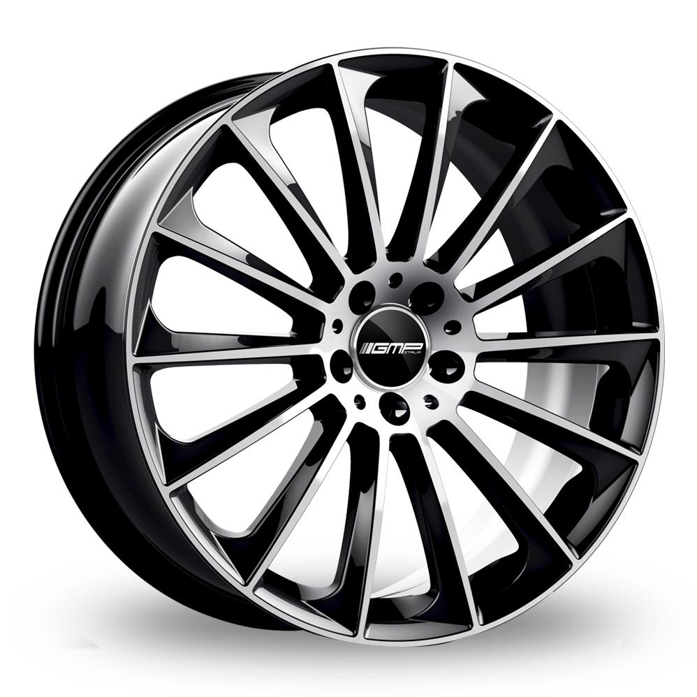 18 Inch GMP Italia Stellar Black Polished Alloy Wheels