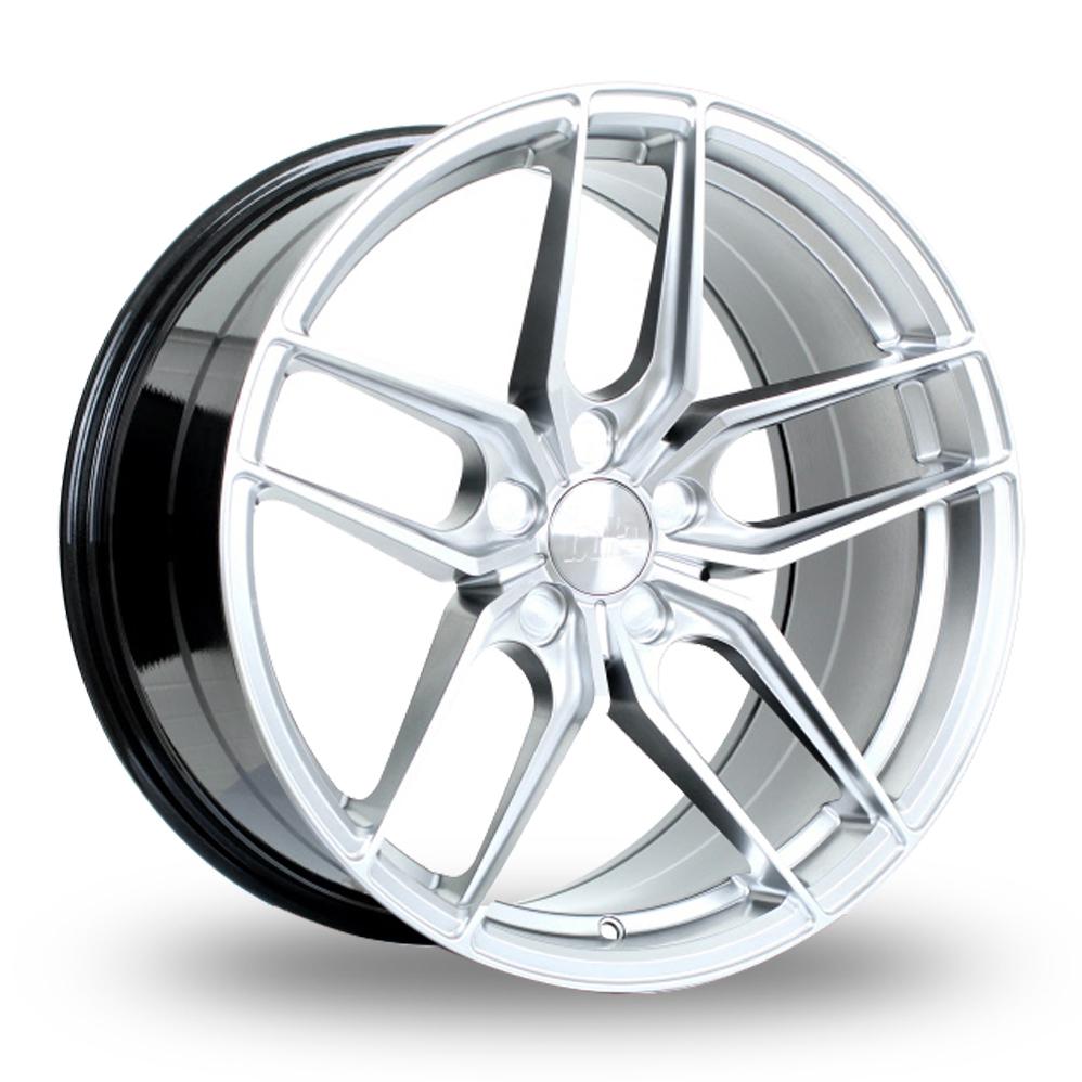 """20"""" Bola B11 Hyper Silver Wider Rear Alloy Wheels"""