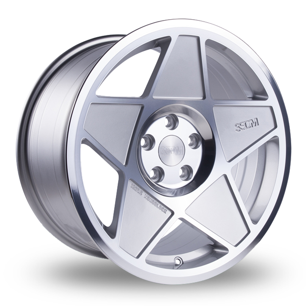 18 Inch 3SDM 0.05 Silver Polished Alloy Wheels