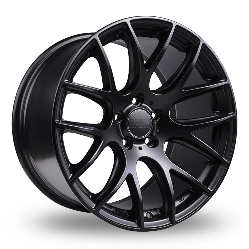 19 Inch 3SDM 0.01 Satin Black Alloy Wheels