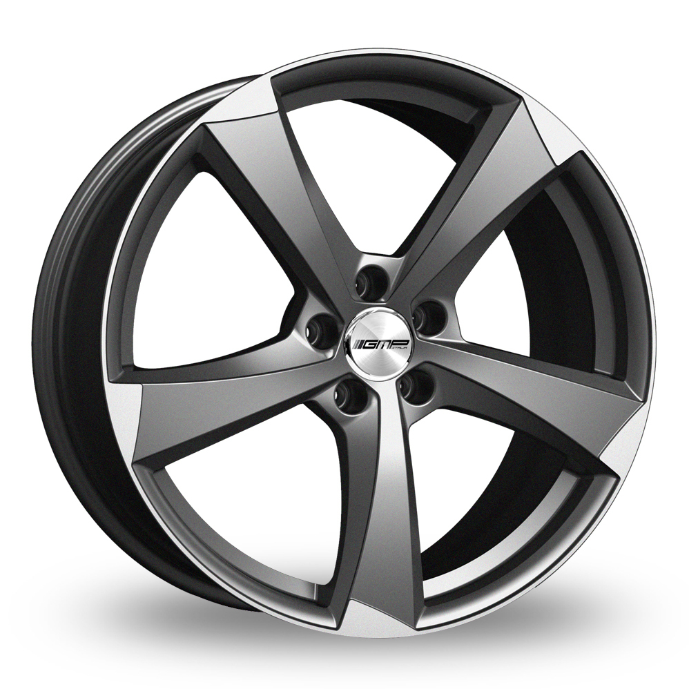 19 Inch GMP Italia Ican Anthracite Polished Alloy Wheels