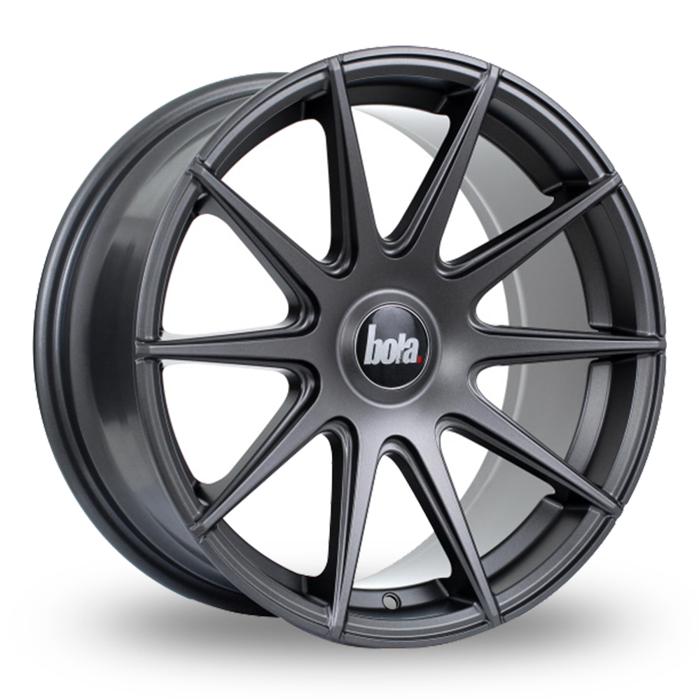 "19"" Bola CSR Matt Gun Metal Wider Rear Alloy Wheels"