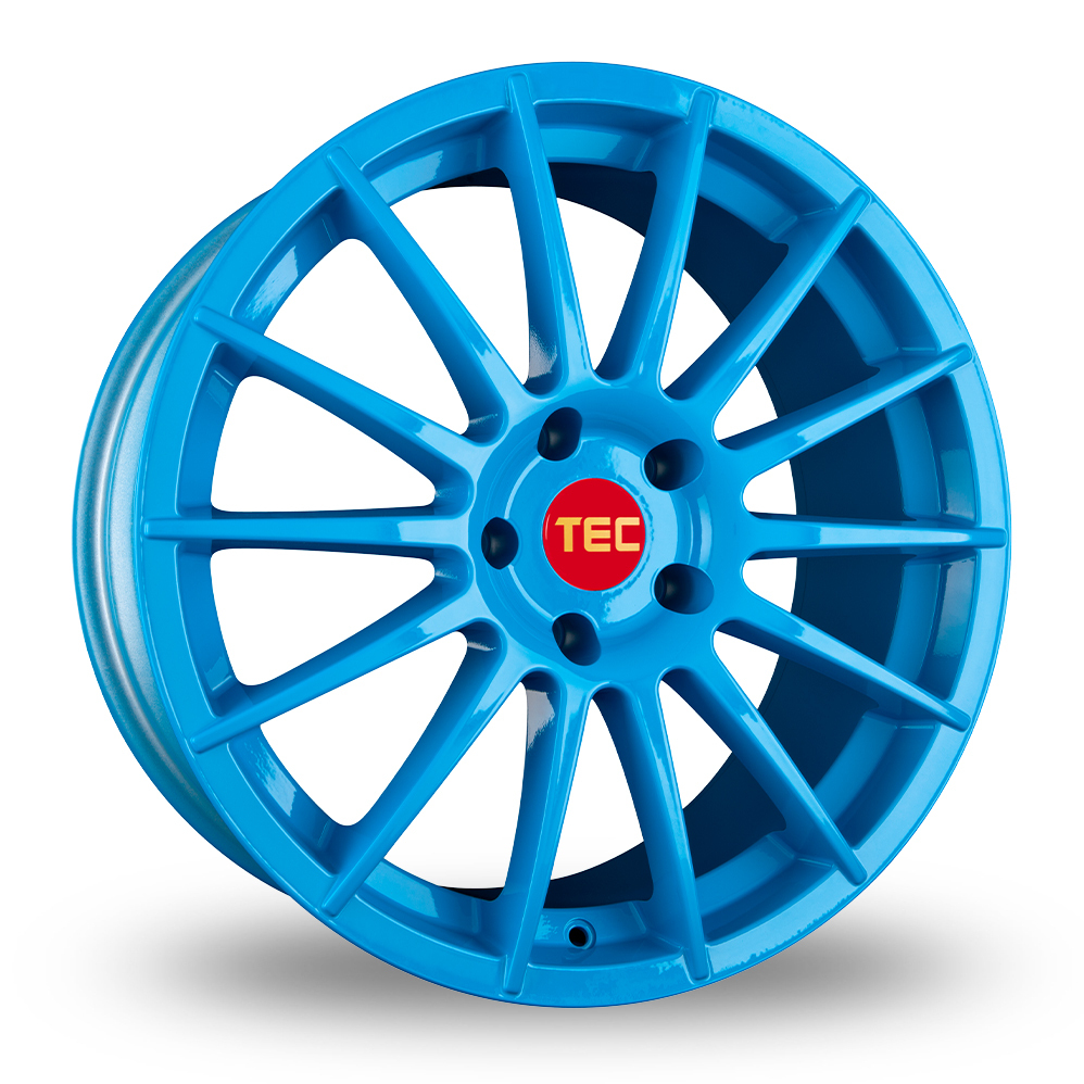 "17"" TEC Speedwheels AS2 Light Blue Alloy Wheels"