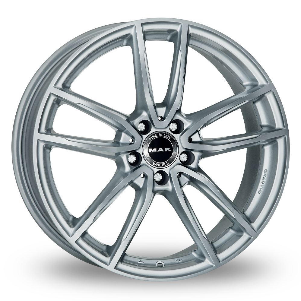 "18"" MAK Evo Silver Wider Rear Alloy Wheels"