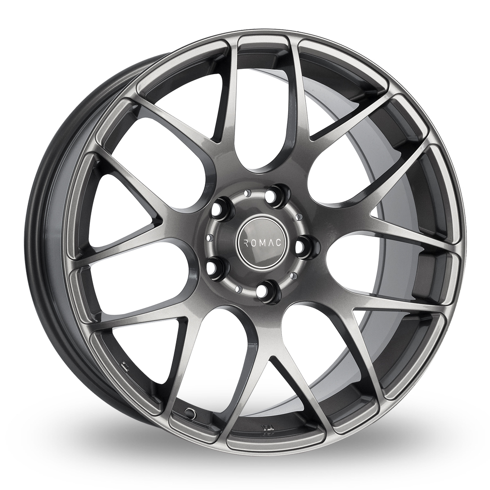 "18"" Romac Radium Gloss Grey Alloy Wheels"