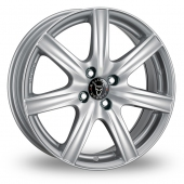 Wolfrace Davos Silver Alloy Wheels